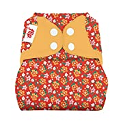Flip: One-Size Snap Closure Diaper Cover - Little House in The Big Woods Collection (Prairie Flowers)