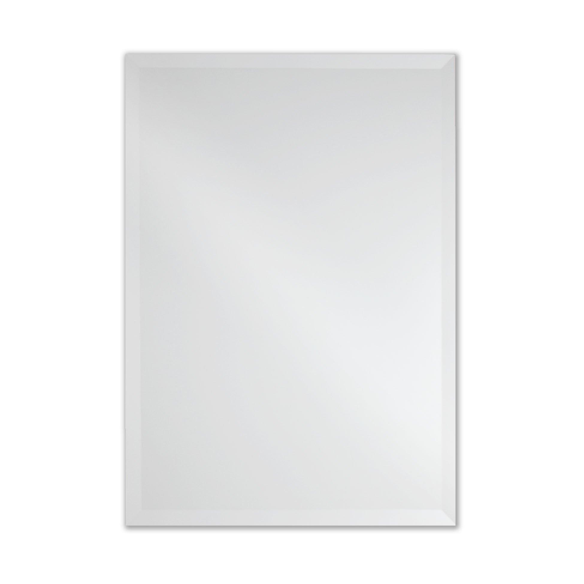 The Better Bevel Frameless Rectangle Wall Mirror | Bathroom, Vanity, Bedroom Rectangular Mirror | 20-inch x 30-inch (Small)