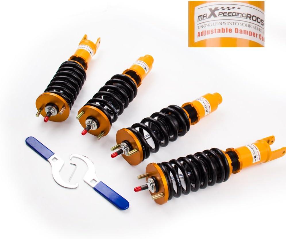 maXpeedingrods Coilovers for Civic 1996-2000 EK2 EK3 EK4 EK5 EK9 EJ6 EJ7 EJ8 EJ9 EM1 Suspension Spring Kit