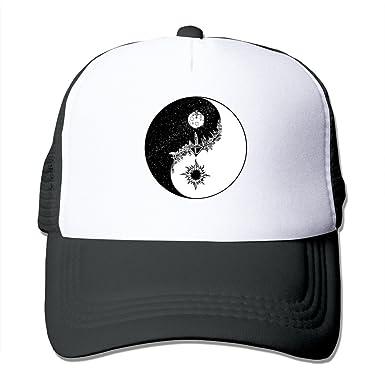 C-DIY Unisex-Adult Adjustable Visor Cap Jason Yinyang Logo Mraz Baseball  Caps Black 7efd70286d9