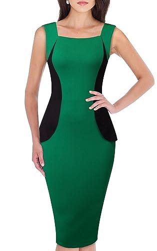 HOMEYEE Vestito convenzionale da donna vintage da donna Vestito convenzionale senza maniche da bodyc...