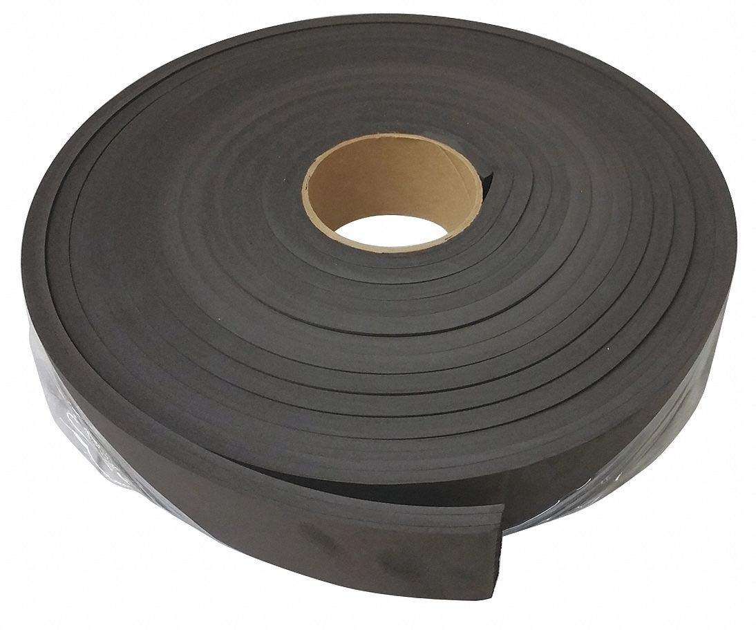 1 W X 25 ft Black L Water-Resistant Closed Cell Foam Roll Neoprene 1//2 Thick
