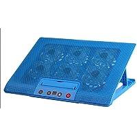 Almohadilla de enfriamiento Cooling Pad Gaming Cooler para Computadora Portátil - Potente para Computadora Portátil USB con 6 Ventiladores Quiet Slim, Liviana para Computadoras Portátiles De 14-17 '