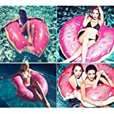 Inflatable Giant Swim Ring Swimming Pool Water Float Raft Fun Bite Shape Donut