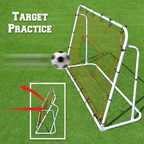 - BenefitUSA Adjustable Soccer Rebounder, Football Training Net, 6 x 6-Feet