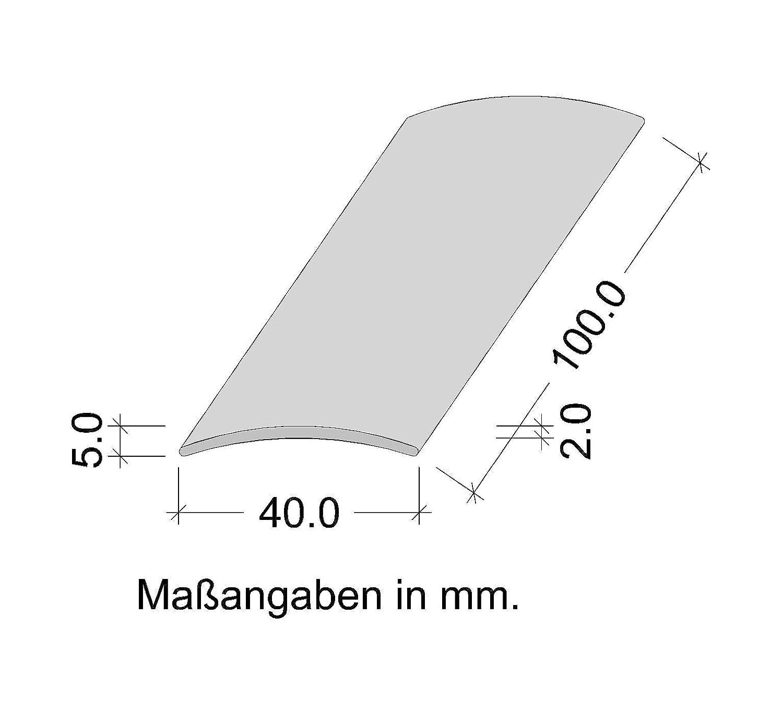 50 mm 30 x 2000 mm Made in Germany 100 cm o de 200 cm Perfil de grueso GedoTec a trav/és de agujeros aluminio anodizado a trav/és de velocidades de riel de perfil del suelo 3 coloures Alu bronze eloxiert De ancho de 30-40