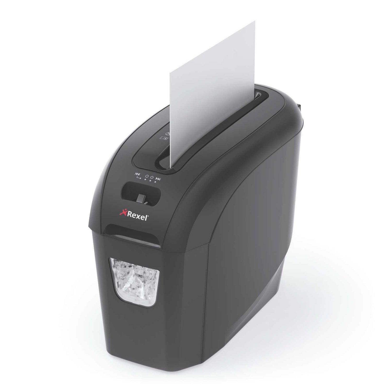 Rexel Style Distruggidocumenti Ultracompatto con Taglio a Strisce, Trita 8 Fogli per Volta, Grigio ACCO Brands 2104004EU