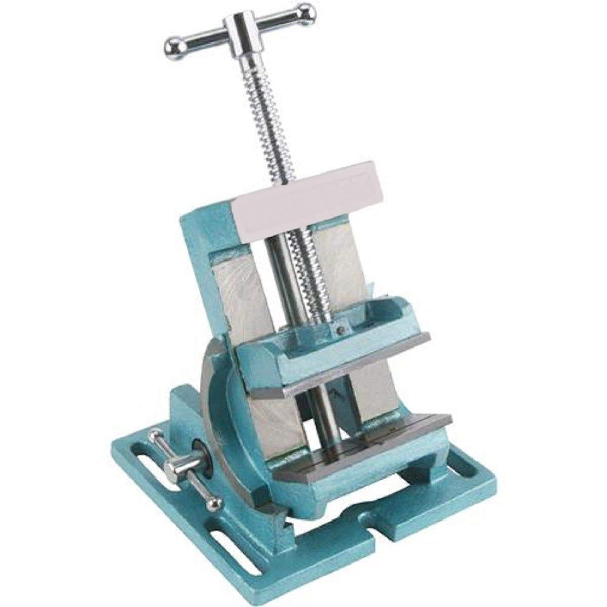 COLIBROX>4 INCH SMALL ANGLE TILT TILTING VISE FOR DRILL PRESS>This Angle Vise offers a full 90° adjustment from horizontal to vertical with easy-to-read scale and indexing pin set for every 15°.