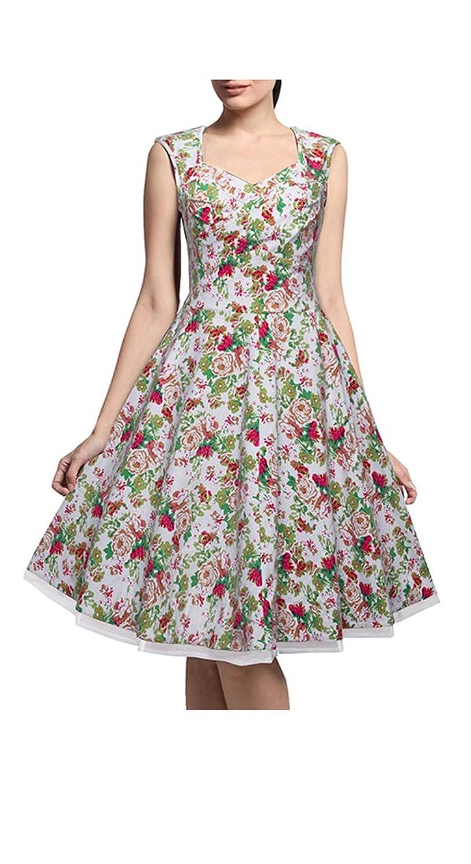 HOMEYEE Damen Empire Kleid, Einfarbig Gr. 44, Weiß - Weiß: Amazon.de:  Bekleidung