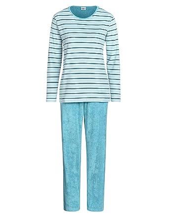 ffda76b10ccb7d Bexleys by Adler Mode Damen Frottee Pyjama Langarm - Schlafanzug,  Schlafkombi, Schlafkombination, Jumpsuit