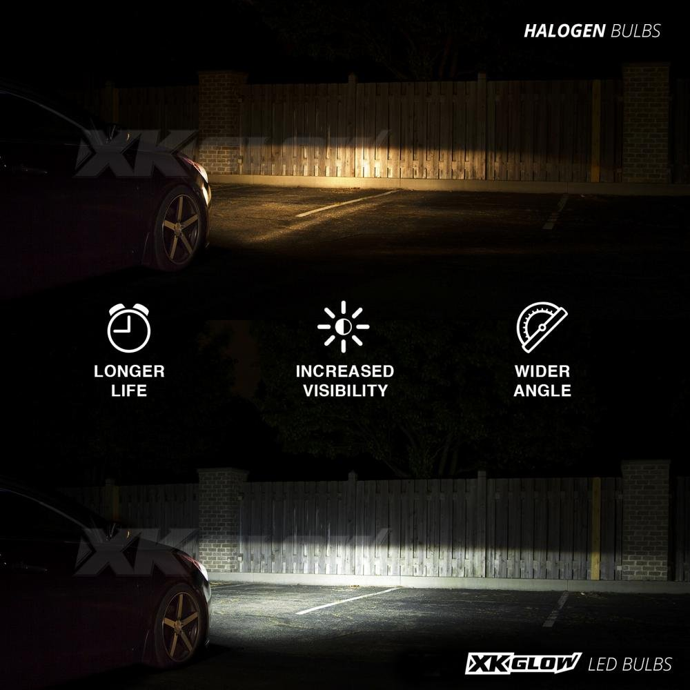 H11 2in1 Led Headlight Bulb Kit Xkchrome Smartphone 2012 Ford Focus Sync Wiring App Enabled Bluetooth Rgb Devil Eye Conversion Automotive