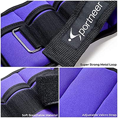 Walking 2 Pack 1-7 lbs Workout Jogging Adjustable Weights Wrist Weight Straps for Fitness Sportneer Ankle Weights 0.5-3.5 lbs Per Ankle