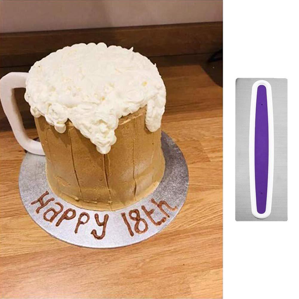 spatole per torte spatole per glassa fondente strumenti da forno Raschietto per torte raschietto per crema strumenti da pasticceria confezione da 4 pettine