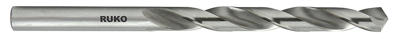Ground with Split Point 3//8 RUKO 214821 Jobber Length Drill Bit High Speed Steel M2 Pack of 10
