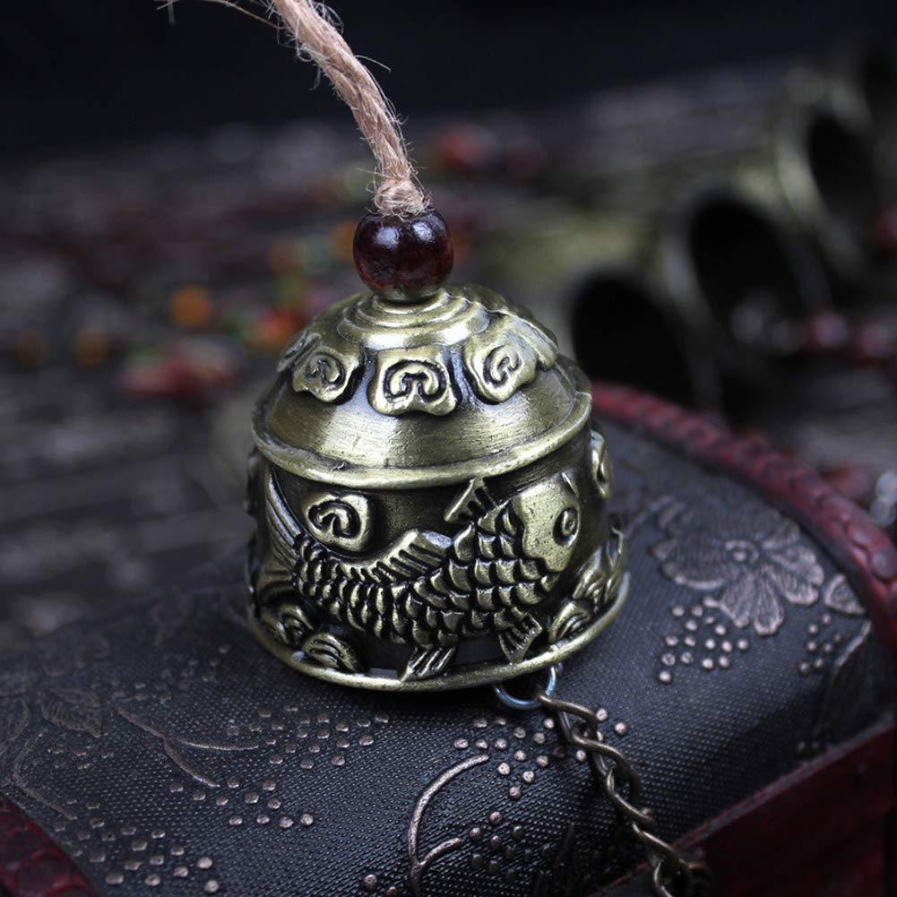 JoyFan Vento Carillon Cinese Tradizionale Vintage Dragon Fengshui Campana buona Fortuna benedire Casa Giardino Appeso Windchime