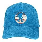 Zuiai Csapfll Squatch Life Funny Nerdy Bigfoot Classic Unisex Gorra de béisbol ajustable lavado teñido algodón sombrero de bola negro, Azul real, Talla única