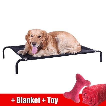 lovecabin Cama Elevada para Mascota Cama Perro para Dormir Viajar Exterior Transpirable Y Desmontable Tejido Ortopédica