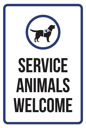 Los animales de servicio Welcome discapacidad negocio ...