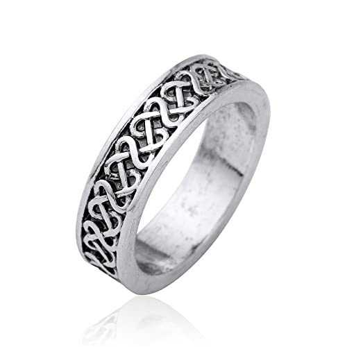Vintage Irish Knot Wedding Ring Punk Rock Style Gothic Rings for ...