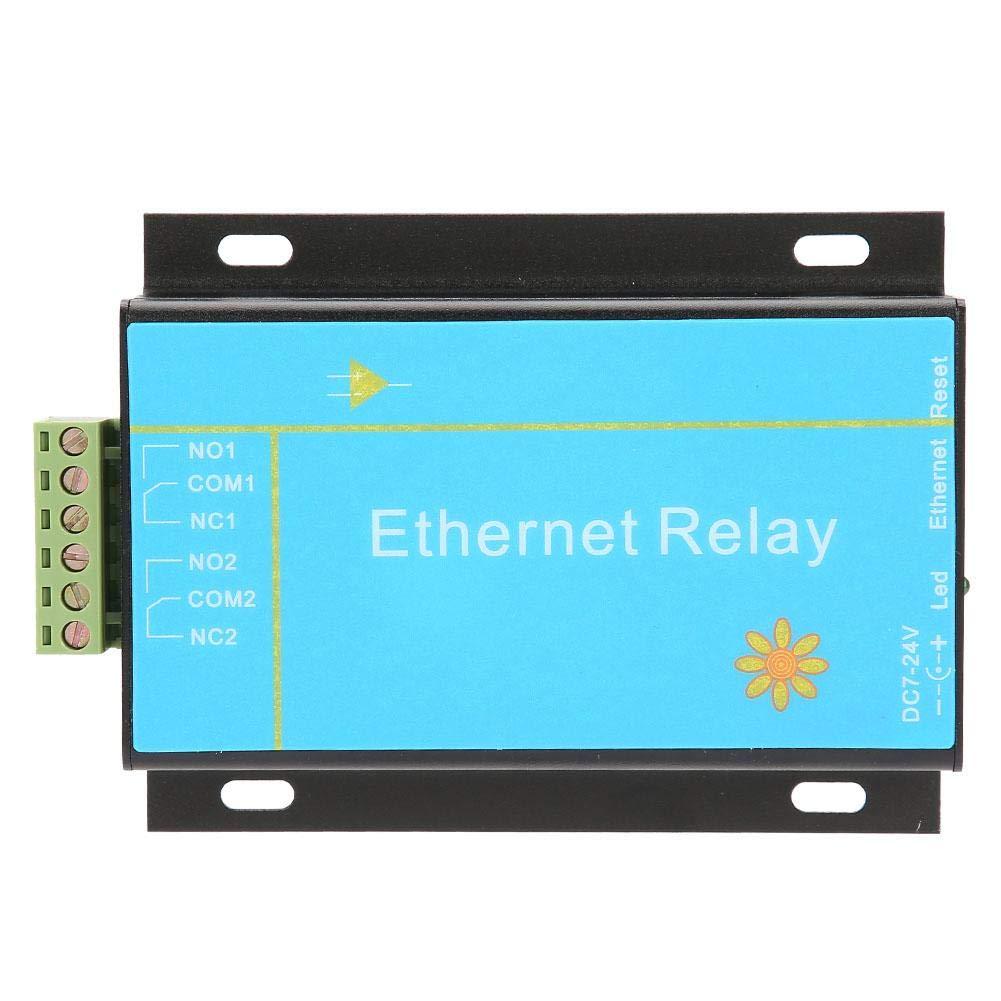 Keyren Ethernet Controller Module, HHC-N2DC Ethernet 2 Channel Relay Board Delay Switch Smart Home Controller Module by KEYREN