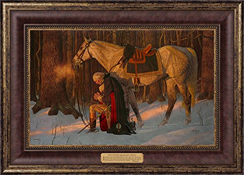 The Prayer At Valley Forge- Arnold Friberg Gallery Quality Framed Art Print- Textured 17''x24''- Washington Picture by Friberg Fine Art