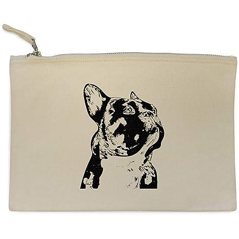 Azeeda Bulldog Francés Bolso de Embrague / Accesorios Case (CL00007912)