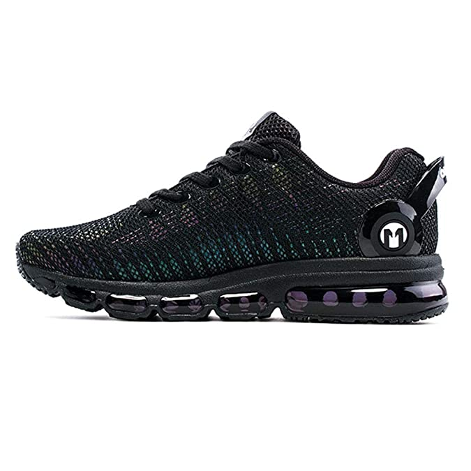 new concept a7e33 ab982 Amazon.com   ONEMIX Men s Women s Air Cushion Colorful Reflections Sport  Running Shoes Athletic Gym Walking Casual Sneakers Unisex Adult   Trail  Running
