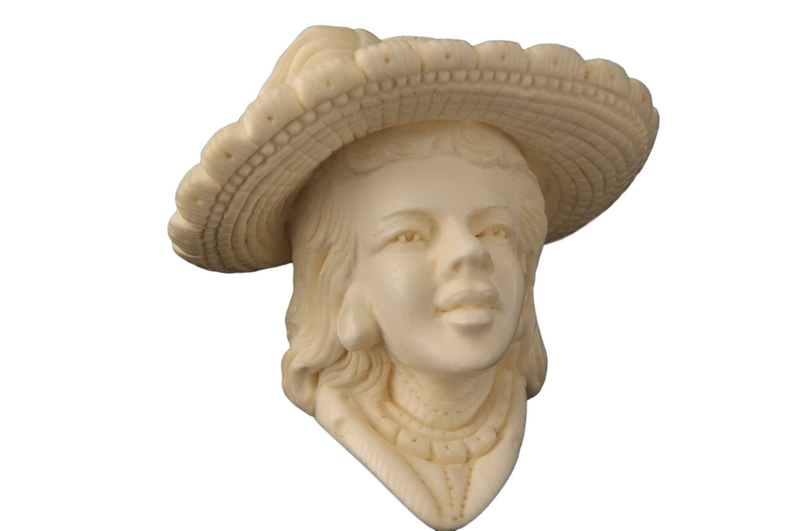 Meerschaum Pipe - Victorian Lady from Master Carver E. Cevher - Tobacco Smoking Pipe Hand Made from the Finest Block Meerschaum - New