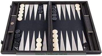 Manopoulos Turquoise Geometric Shapes 19-inch Backgammon Set UK
