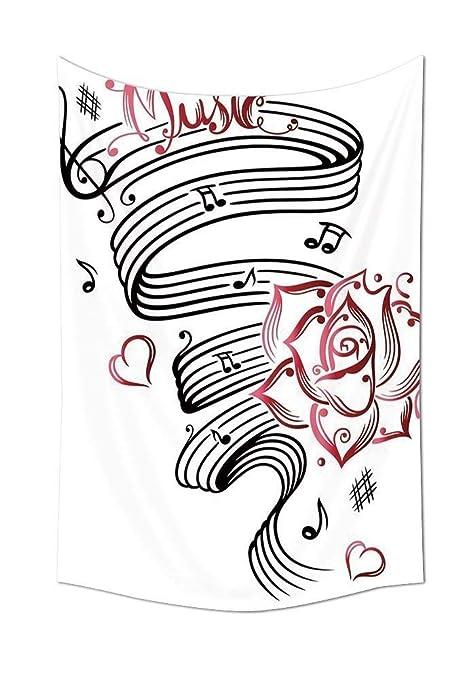 Wecottkerc - Tapiz para decoración de Tatuajes, diseño romántico ...