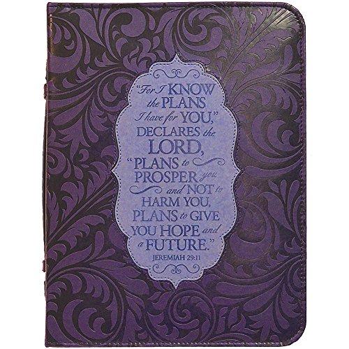 Jeremiah 29:11 Verse Bible Cover - Moisture Resistant Vinyl Case w/ (Scripture Cover)