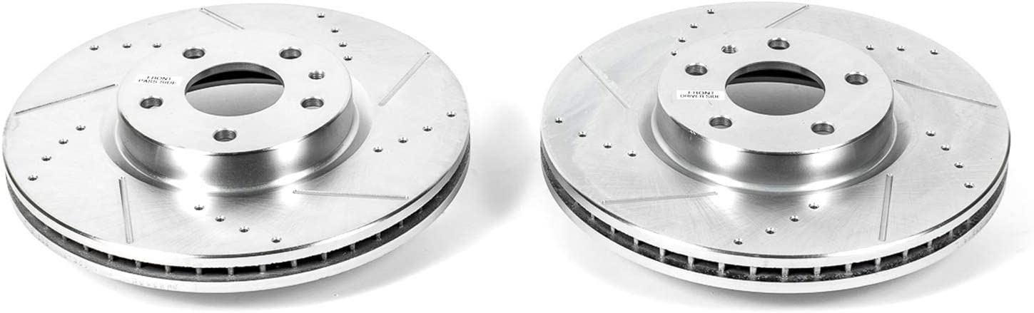 Power Stop AR85150XPR Front Evolution Drilled /& Slotted Rotor Pair