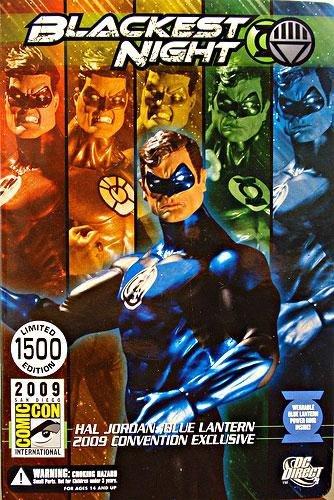 Dc Direct Green Lantern - DC Direct Green Lantern Blackest Night 2009 SDCC San Diego ComicCon Exclusive Action Figure Hal Jordan BLUE Lantern