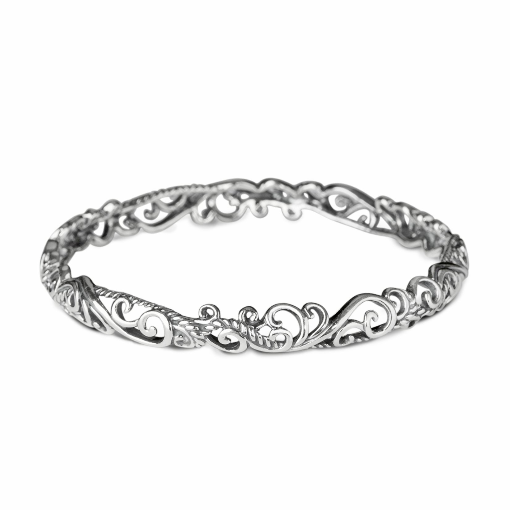 Carolyn Pollack Sterling Silver Bangle Bracelet, Small