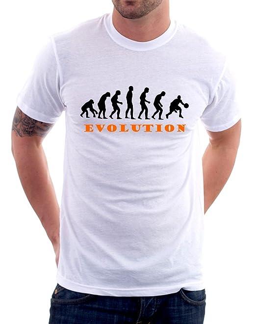 16 opinioni per t-shirt basket evolution evoluzione pallacanestro sport uomo donna bambino S M L