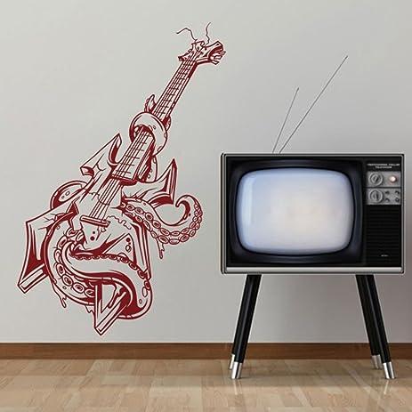 Amazon.com: MairGwall Fashion Bass Guitar Decor Octopus Wall Art Pop ...