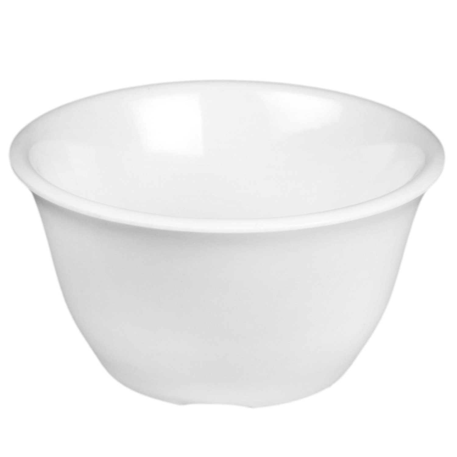Excellanté White Melamine Collection 4-Inch Bouillon Cup, 7-Ounce, White, 12-Piece CR303W