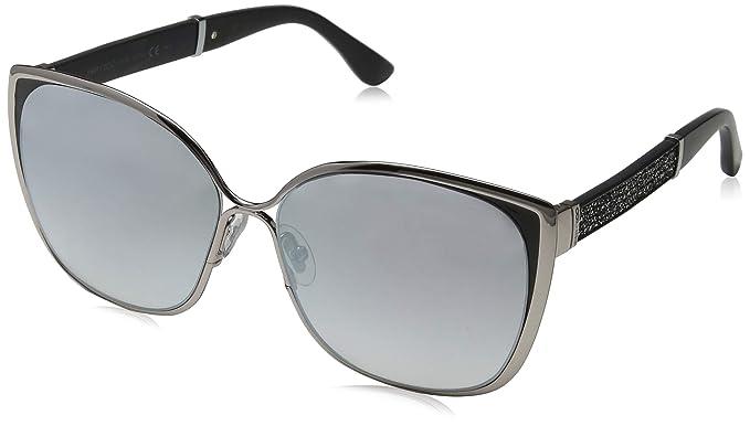 6a04b4f3630e Jimmy Choo MATY S 1B0FU 58mm Ruthenium Lilac Black Glitter Grey Silver