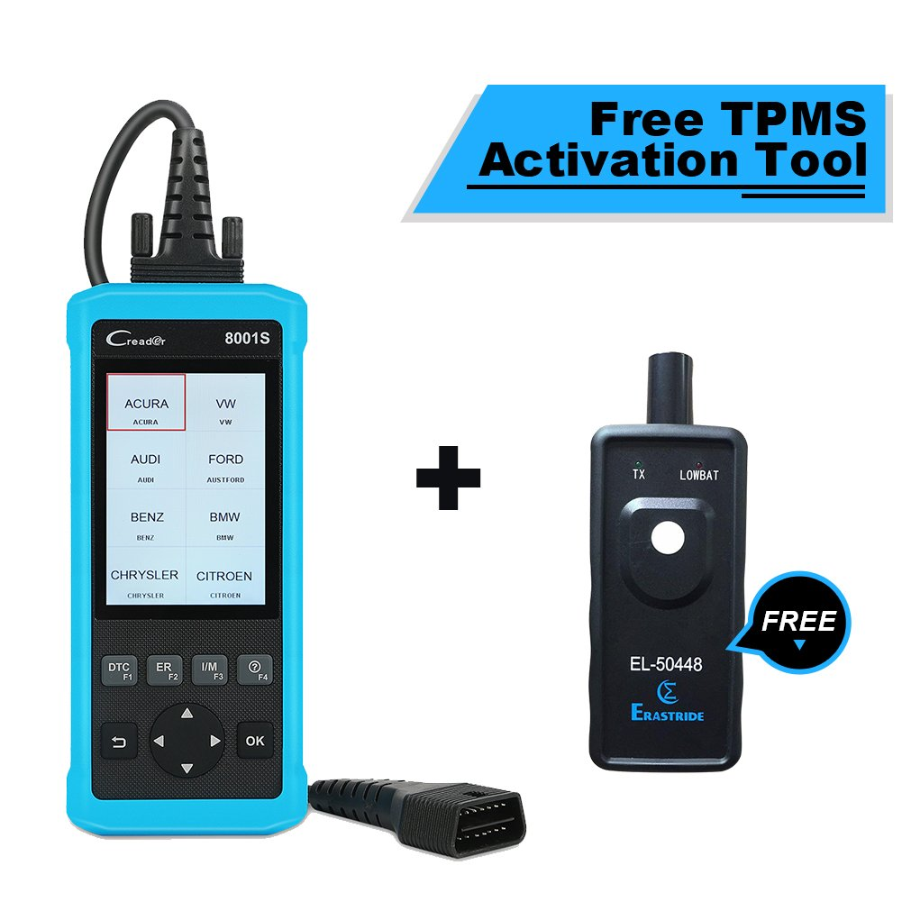 LAUNCH CR8001S Code Reader Oil/EPB/SAS/BMS Reset OBD2 Scanner Scan Tool Testing Engine/Transmission/ABS/Airbag System + TPMS Activation Tool by LAUNCH (Image #1)