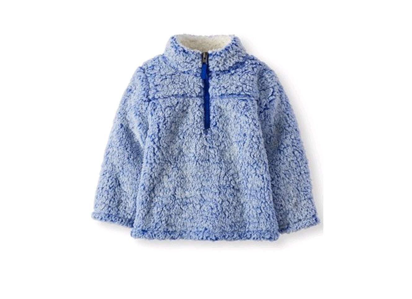 3T, Really Royal Wonder Nation Baby Boys Quarter Zip Super Soft Sherpa Pullover