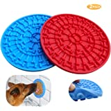Helpcook Dog Lick Pad,Dog Bathing Distraction Device,Slow Treat Dispensing Mat Peanut Butter Mat Suctions to Wall for Pet Bathing, Grooming, and Dog Training