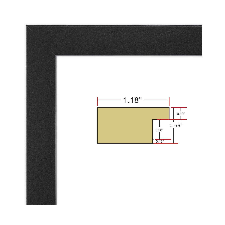 FrameMaster 24x36 Poster Frame (1 Pack), Black Wood Composite, Gallery Edition by FrameMaster (Image #4)