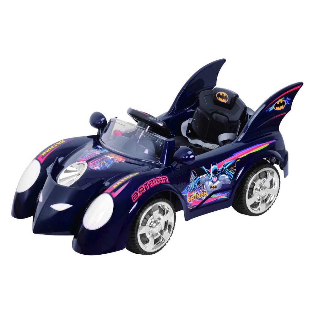 Amazon Com Best Ride On Cars Blue Batmobile Ride On Toys