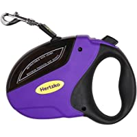Heavy Duty Retractable Dog Leash by Hertzko - Great for Small, Medium & Large Dogs up to 110lbs - Strong Nylon Ribbon Extends 16ft