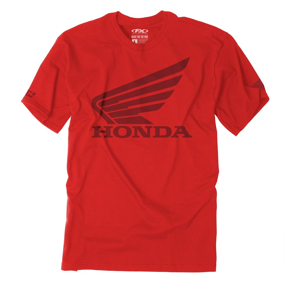 Factory Effex Unisex-Adult Honda Big T-Shirt (Red, X-Large), 1 Pack