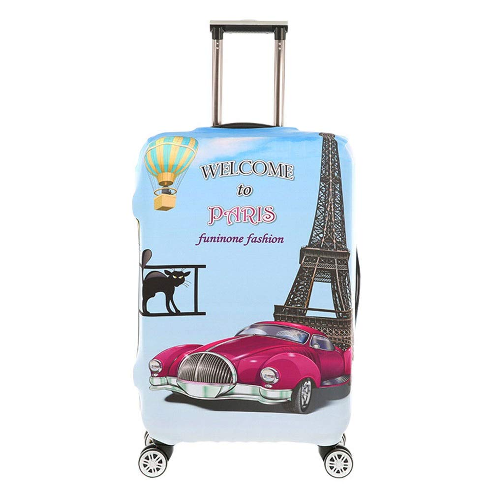 DHUYUN-Bag Luggage Cover Protector 18-32 Inch Anti-Scratch Luggage Cover Washable Spandex Baggage Suitcase Cover Washable Baggage Covers Color : Fox, Size : S 18-21