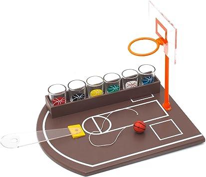 Juego mesa baloncesto para beber + 6 vasos chupito: Amazon.es ...