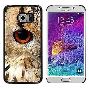 LECELL--Funda protectora / Cubierta / Piel For Samsung Galaxy S6 EDGE SM-G925 -- Eye Bird Animal Nature Fur Feathers --