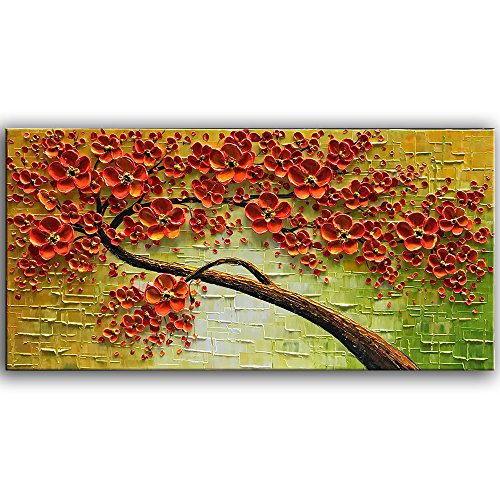 Hand painting oil canvas for Decorate with flowers amazon