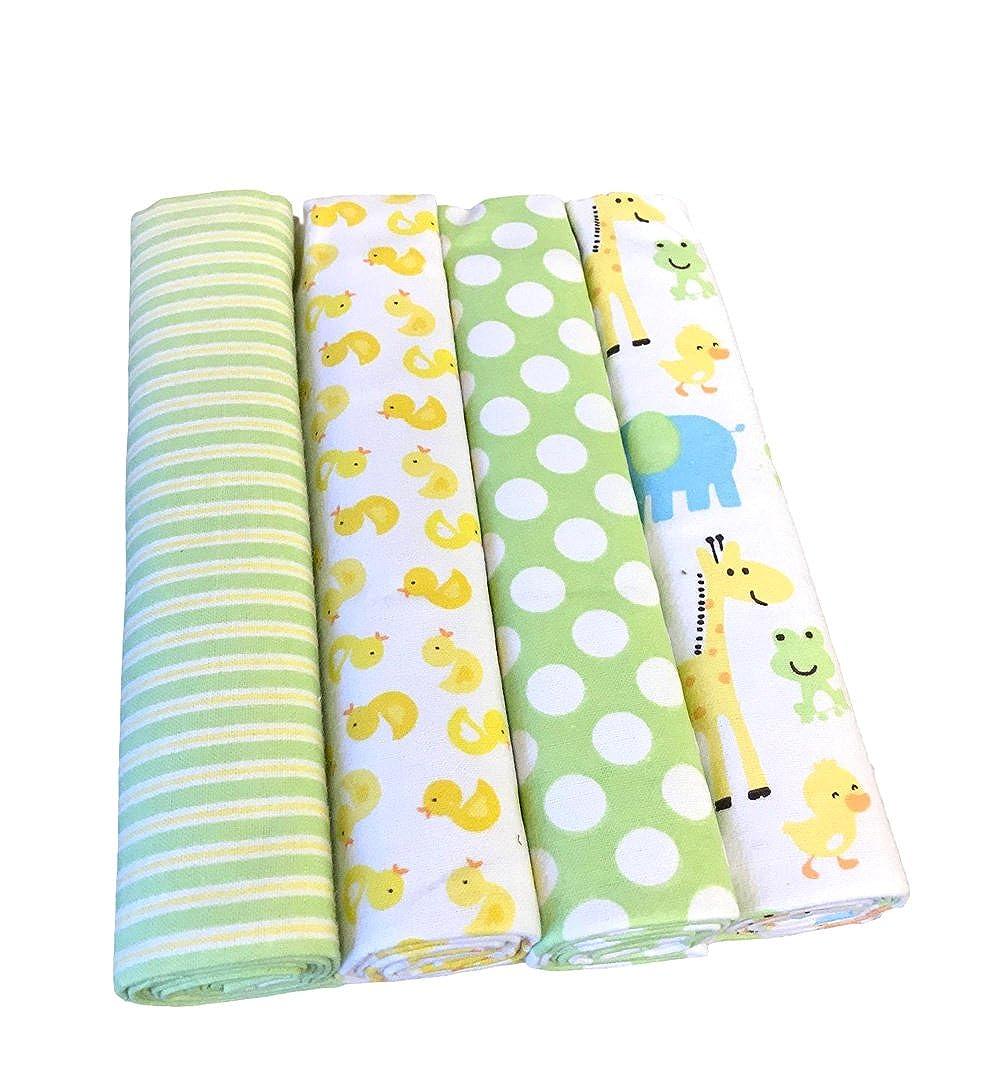 effe bebe 100/% Cotton Flannel Baby Receiving Blanket